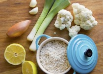 switch up the usual mushroom risotto for this refreshing leek and lemon combination!