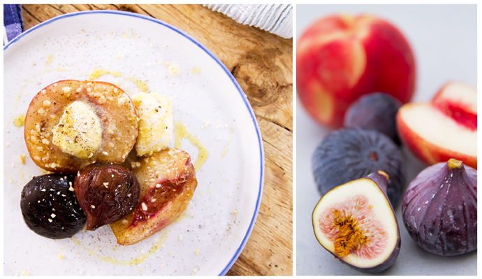 Vanilla Roasted Figs & Peaches